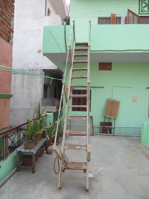Your own personal stairway to the third floor unit.