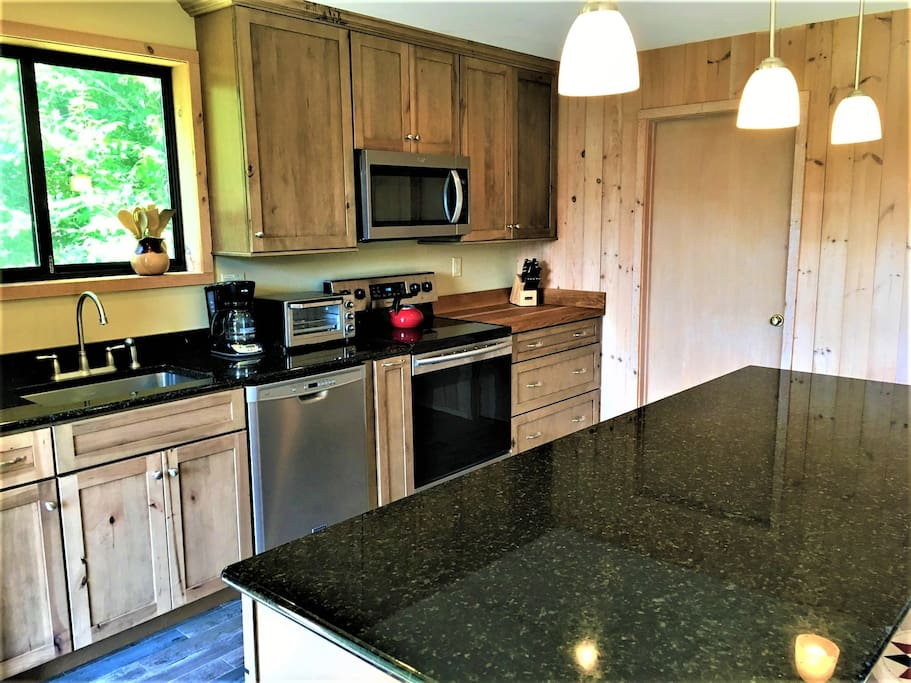 Remodeled Kitchen - Large Island and Butcher Block