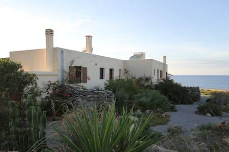 Spacious Villa on the Seafront - Agia Fotia - Huis