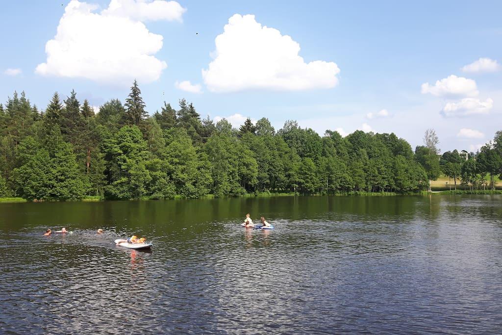Baden im Nagler See