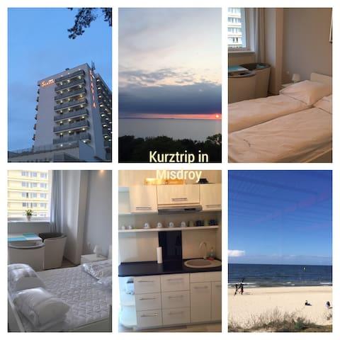 Tolle Wohnung direkt am Strand - Międzyzdroje - Apartment