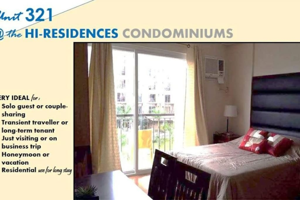 Safe Clean Relaxing and Comfortable space...ideal for solo guest or couple-sharing transient travelers or long-term tenant just visiting or on a business trip in Bacolod City, Negros Island.