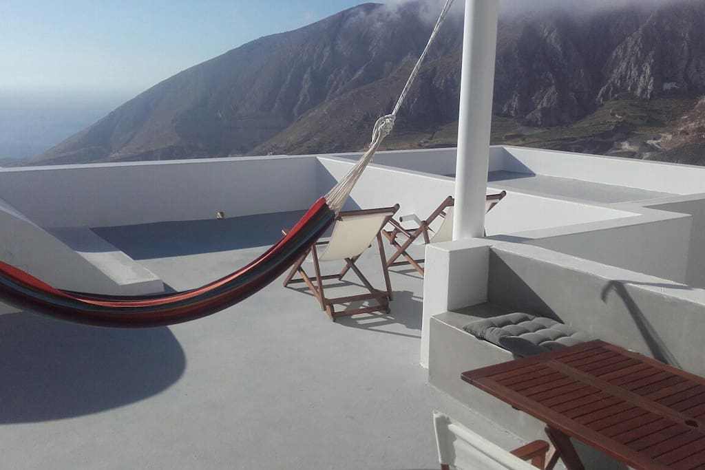Hammock with view over the Aegean