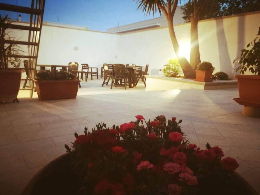 Giardino a disposizione degli ospiti