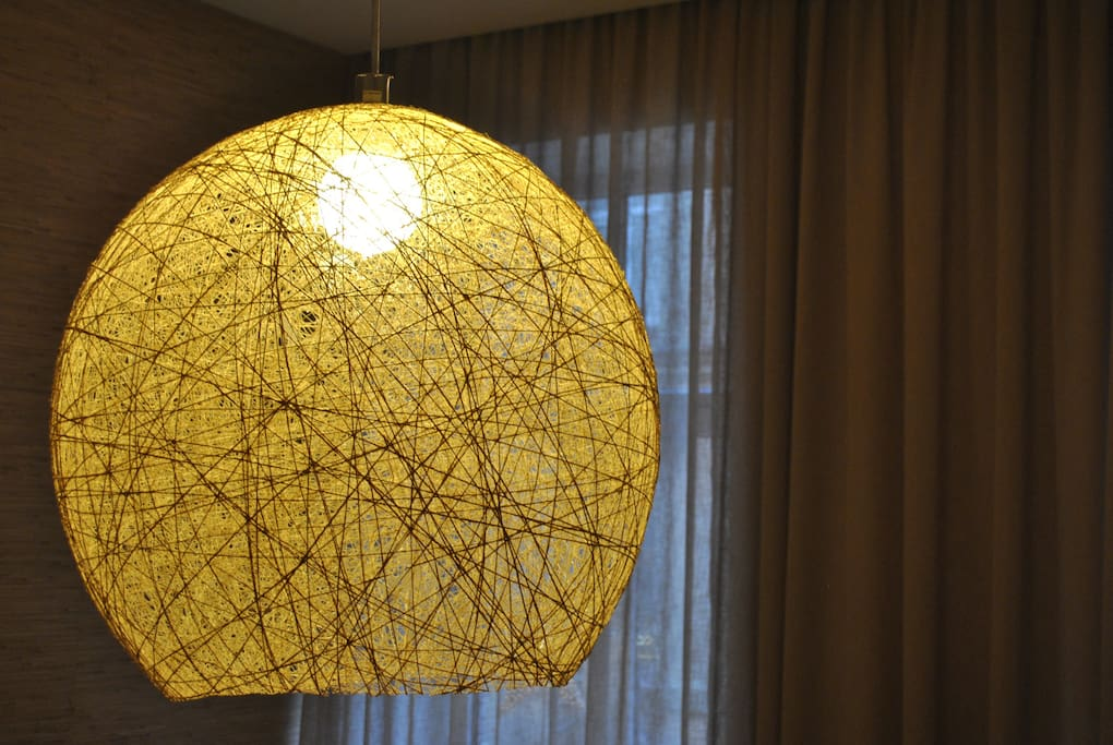 Specially designed dome for lamp. Made by Latvian artist.