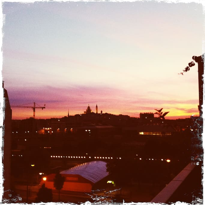 Le coucher de soleil à Paris...