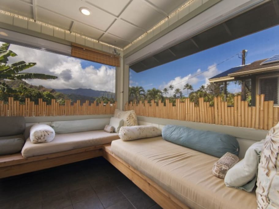 Another view of the Lanai. The Mountain Suite is to the Rt