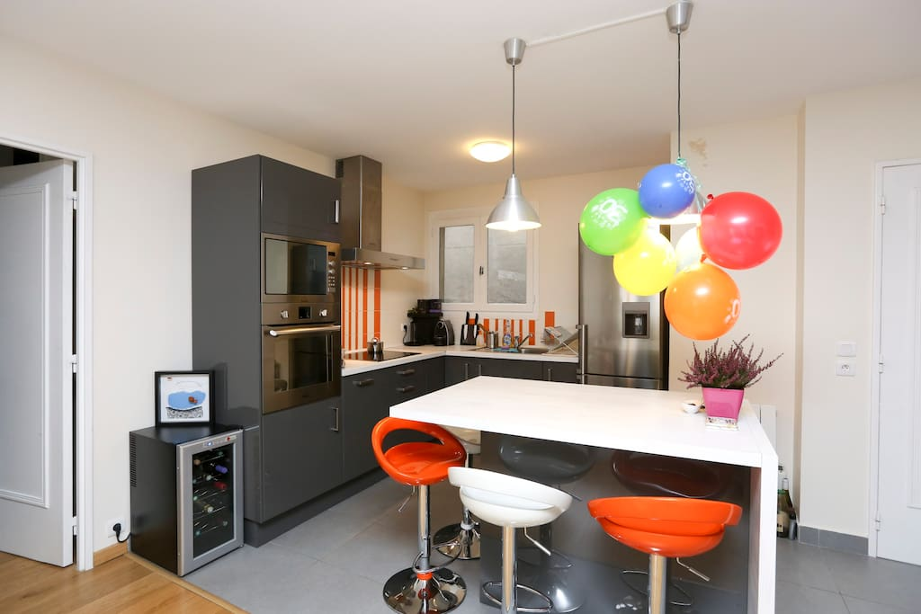 Open space kitchen - fully equipped