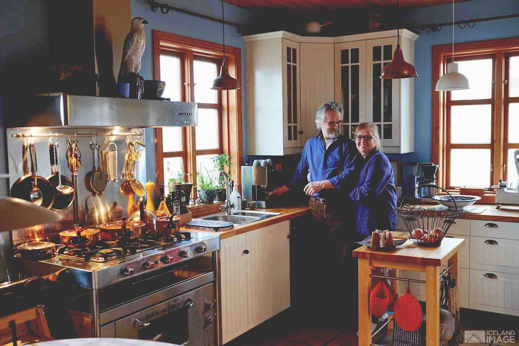 Your hosts, Kristján and Heba