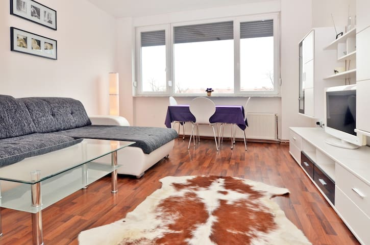 Very Center, view of a beaut. park - Zagreb - Appartement