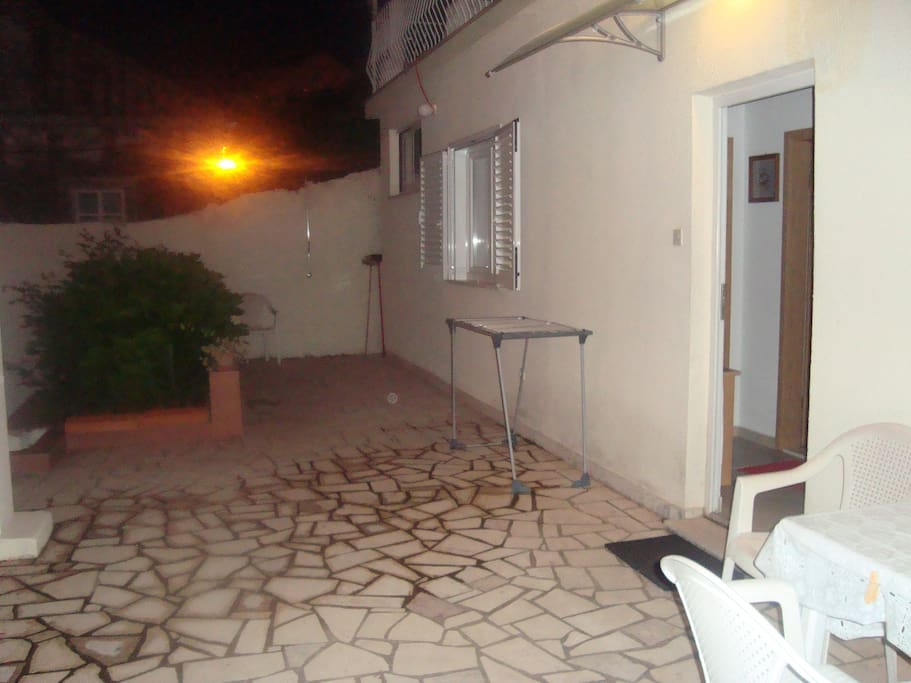 private entrance with terrace