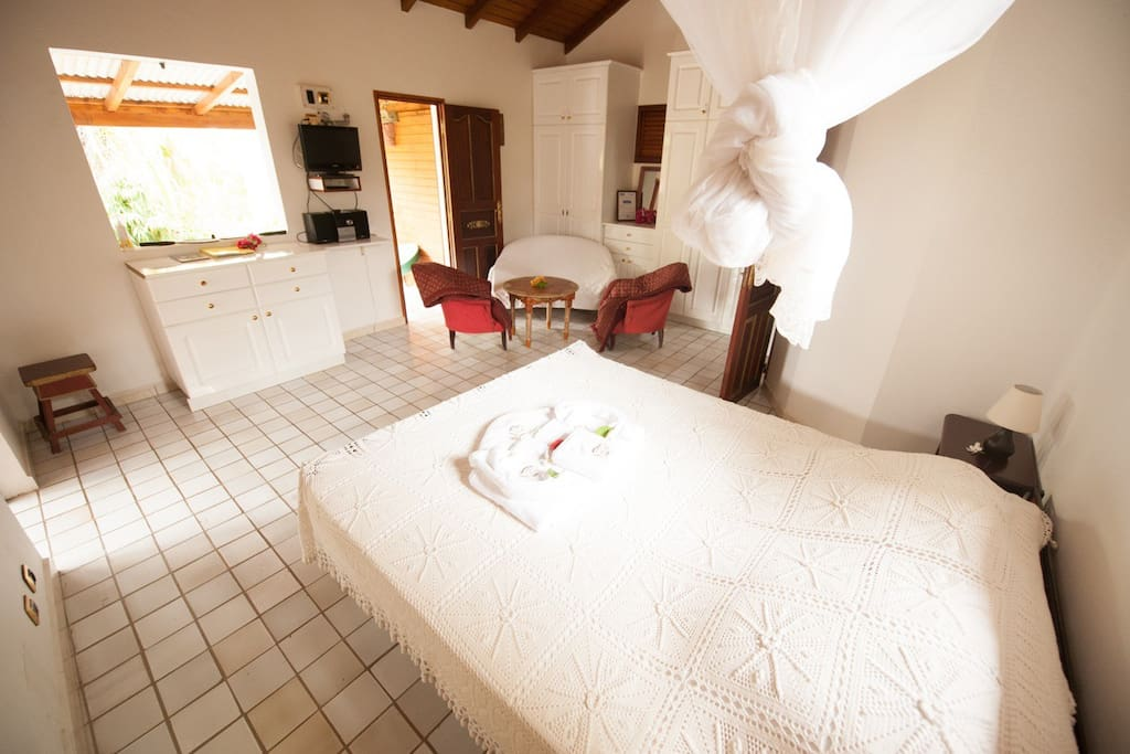 Big Bedroom  grande chambre avec fauteuil et canapé