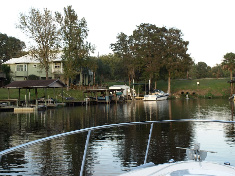 View of house from St. Johns River.