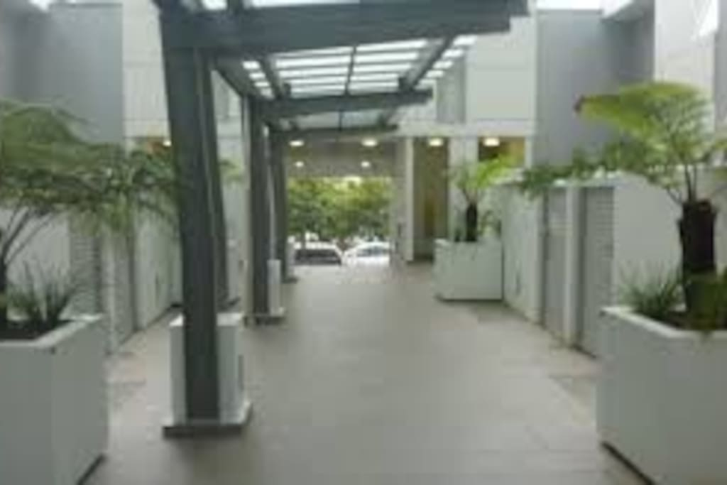 Secure main entrance, wheelchair friendly.
