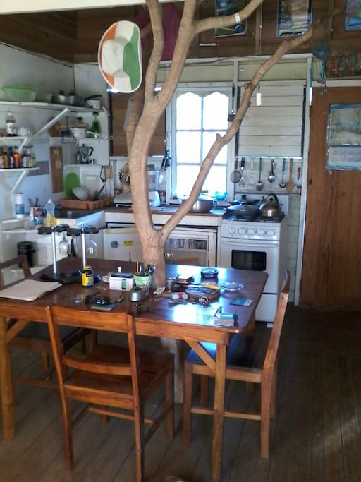 Complete kitchen for use with Central dining table complete with tree of life centre peice
