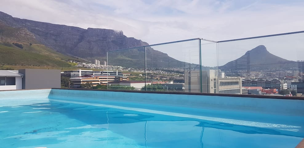 1 of 3 Rooftop pools with views of Table mountain and Lion's head.