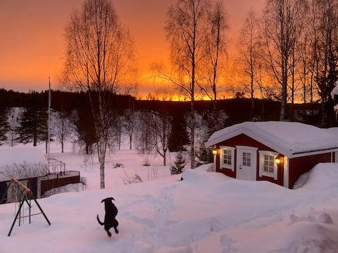 距離皮特奧( Piteå ) 2米的河景小屋