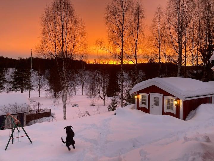 Stuga 2mil från Piteå med älvutsikt