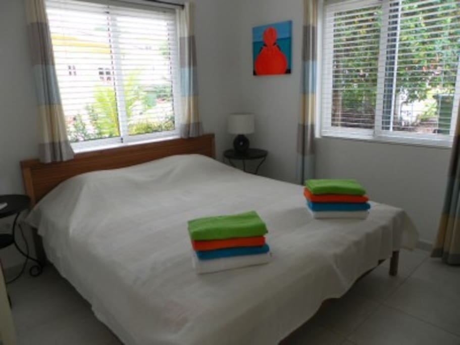 Large double bed in the second  large bedroom