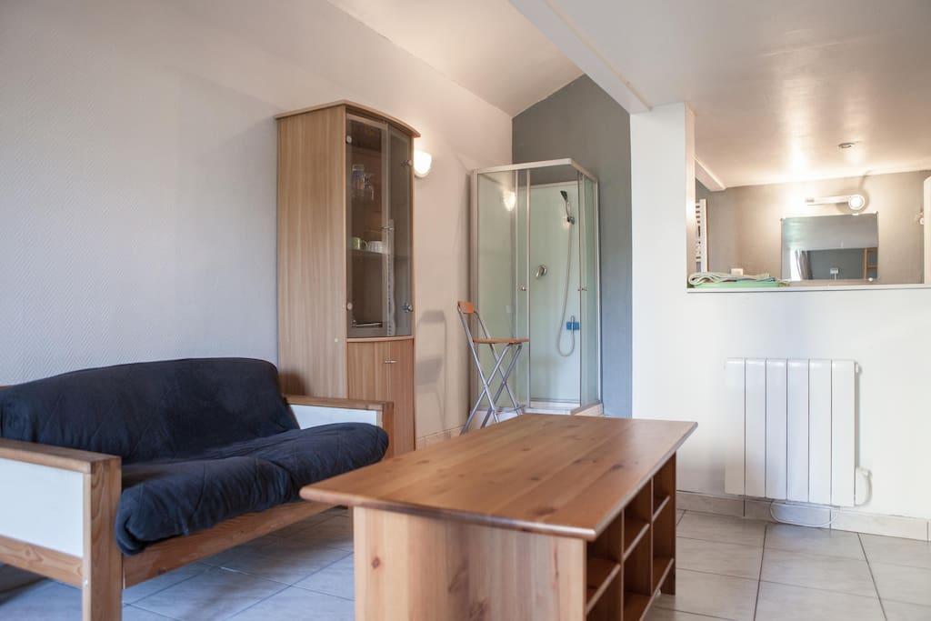 Studio meubl chambre d 39 hote appartements louer for Chambre d hote saint sulpice