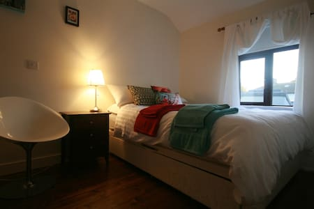 Bright, comfortable room very close to Dublin city centre. Modern house with parking on a quiet street - ideal for peaceful sleep in's, relaxing in the garden and breakfasting in the sunny kitchen. Beautiful Phoenix park, local swimming pool and public transport are all close by.