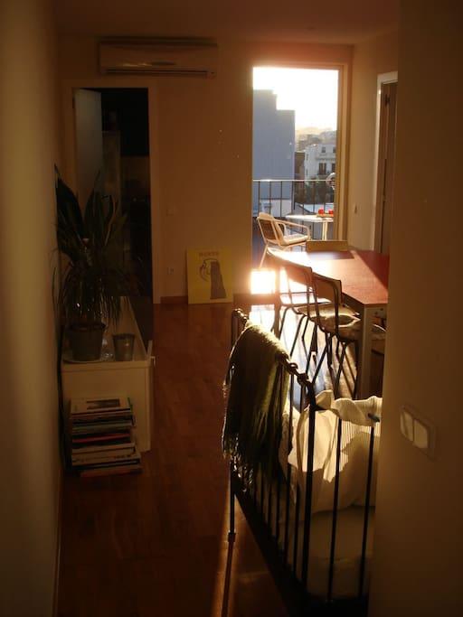living room towards terrace