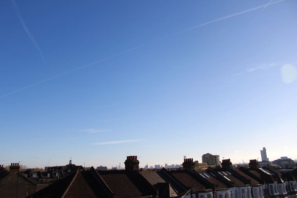 Slight views of the city from the loft bedroom...!