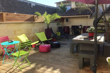 Chambre Cosy dans charmante échoppe - Libourne - Haus