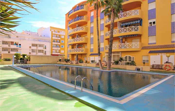 Beautiful apartment in Torrevieja with Outdoor swimming pool, WiFi and 1 Bedrooms