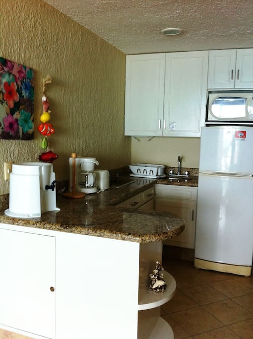 VIEW OF THE KITCHENETTE