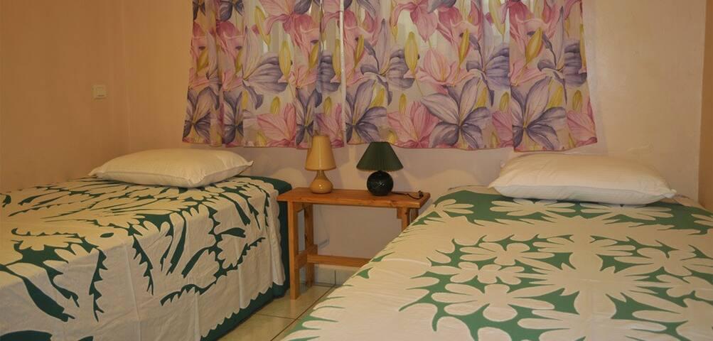 Chambre Opuhi climatisé+wifi  - Fa'a'ā - Bed & Breakfast