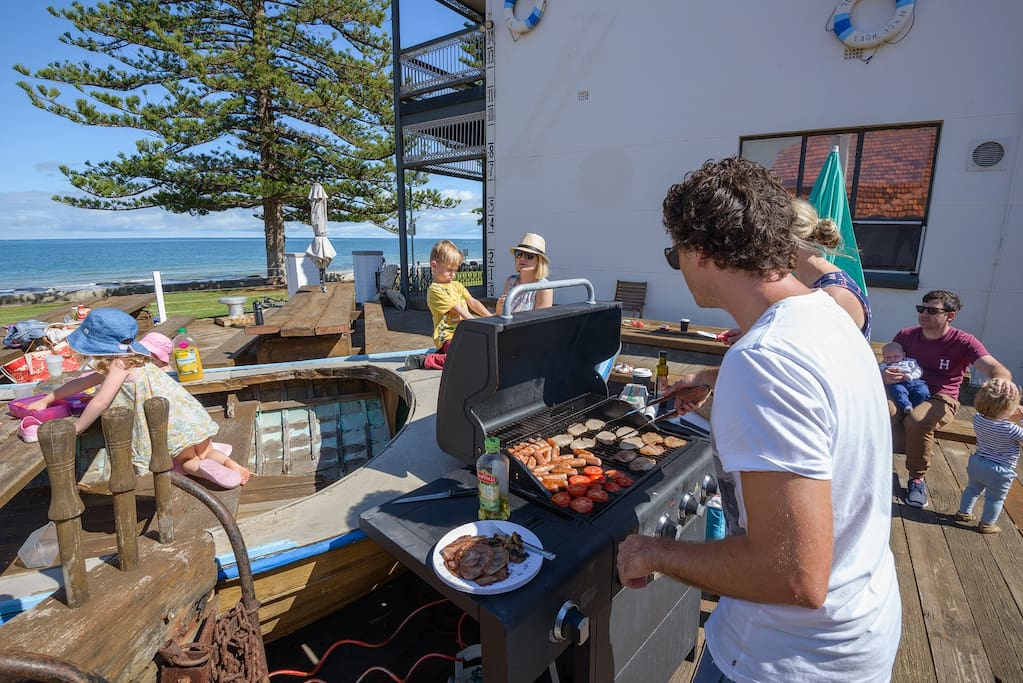 Cook up a storm on the BBQ on the communal deck area