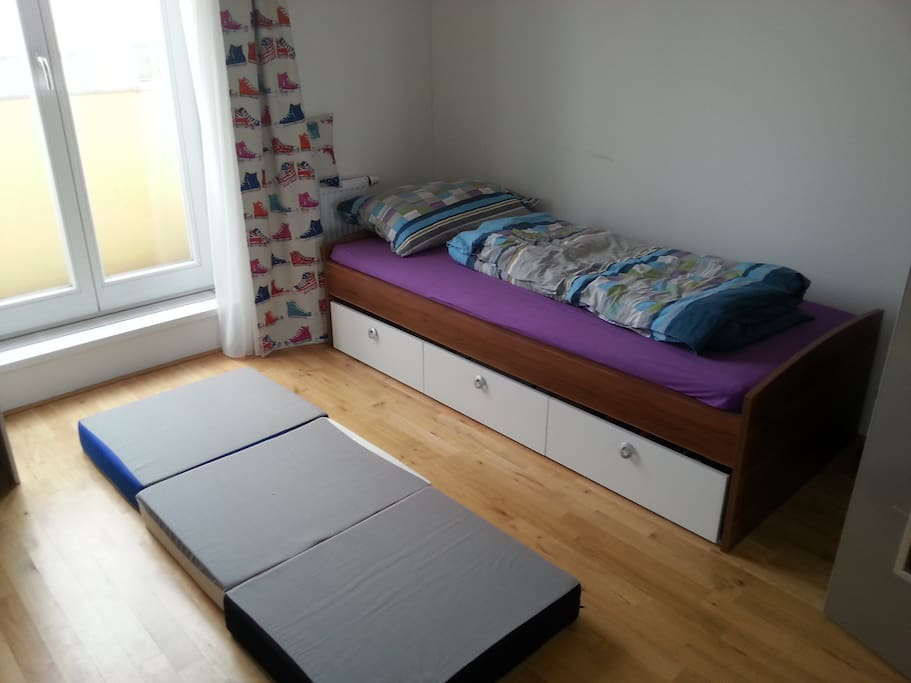 private bedroom with mattress option for two people