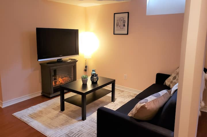Very Large and Beautifully Furnished 1Bed Basement