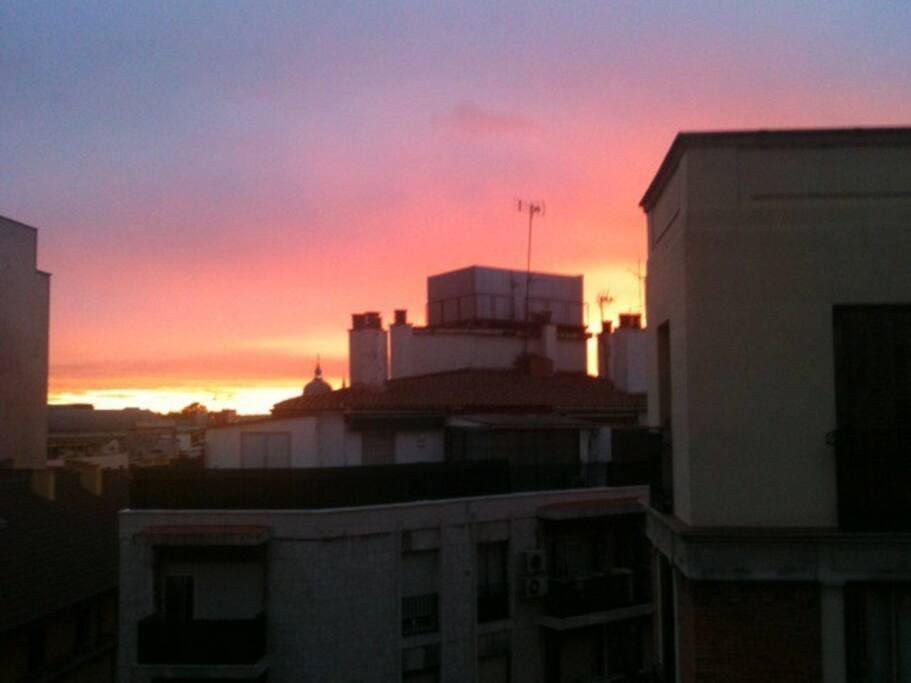 Sunset on the Terraza