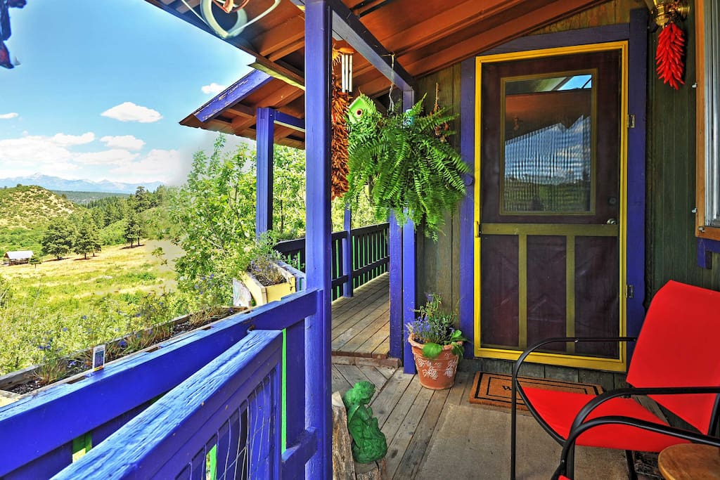 Sip your morning cup of coffee from the spacious front deck.