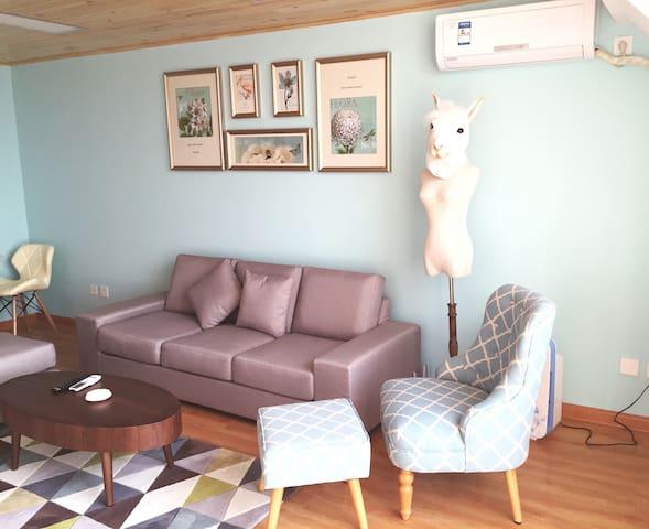 青晨美式混搭精装LOFT公寓 - Qingdao - Lägenhet