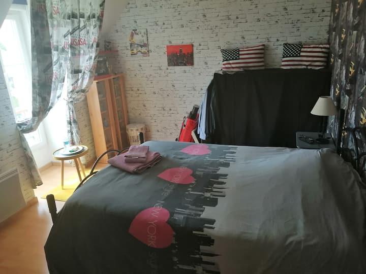 chambre privée +lit enfant possible