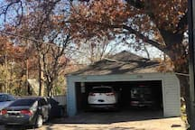 Parking in garage