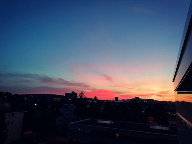 Stay in Zurich...with the sunset
