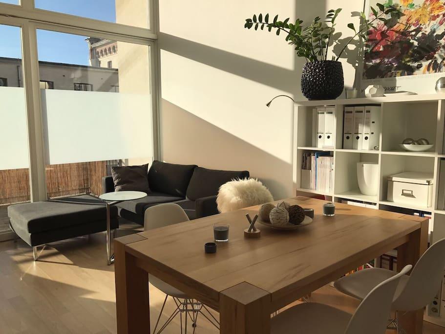 designer loft am wasser 2raumwhg terrasse wohnungen zur miete in leipzig sachsen deutschland. Black Bedroom Furniture Sets. Home Design Ideas