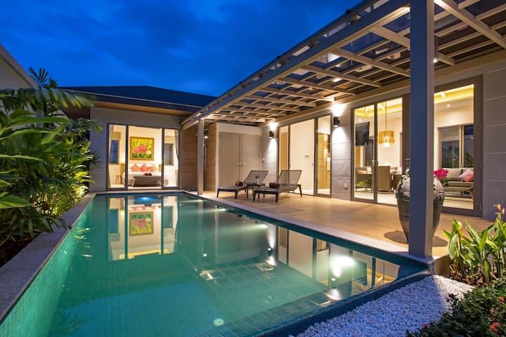 精品度假别墅☲不带化学品的游泳池☲卡马拉