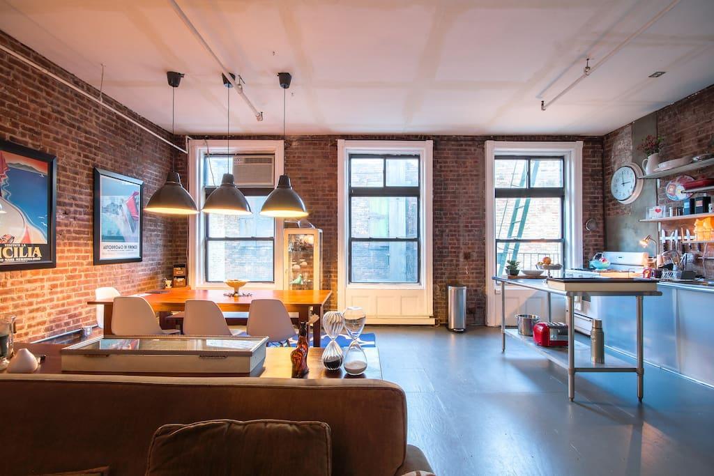 AUTHENTIC TRIBECA LOFT NEAR SOHO Flats For Rent In New York New York Unit