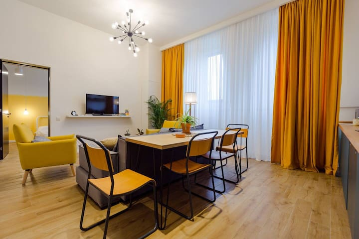 Bright & stylish 2BR apt in the center of Batumi
