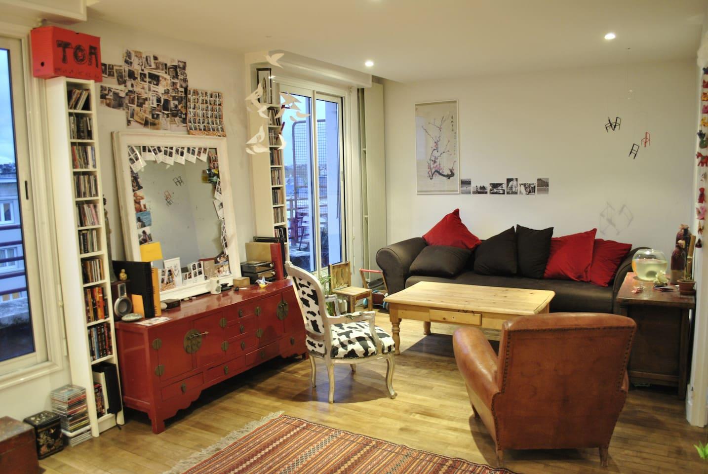 Appartement 90m, plein centre ville