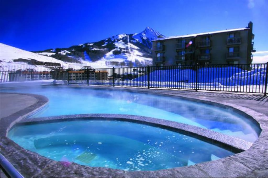 Swimming pool and hot tub - during high season in summer and winter