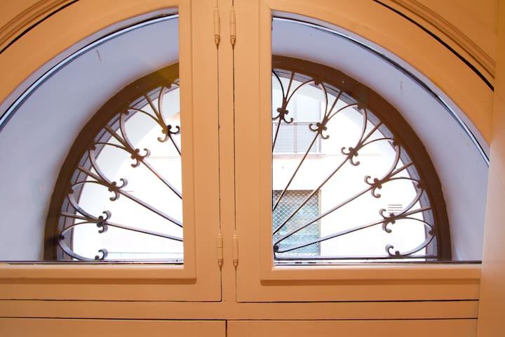 detalle de la ventana del dormitorio