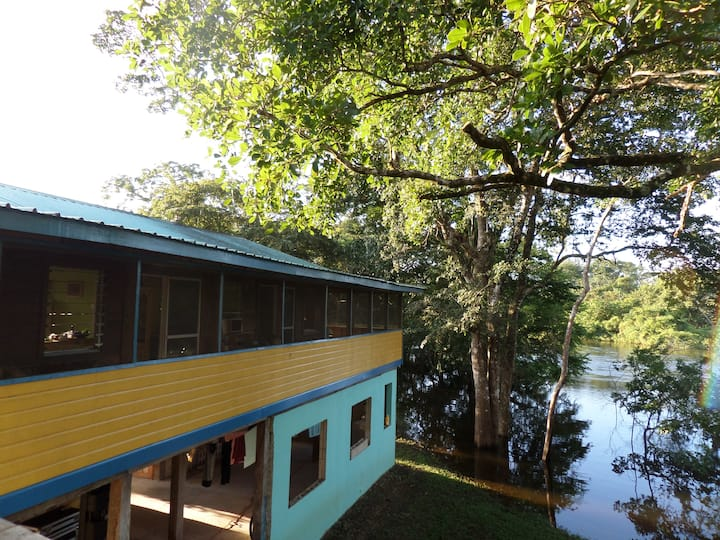 Belize River house with Tree house