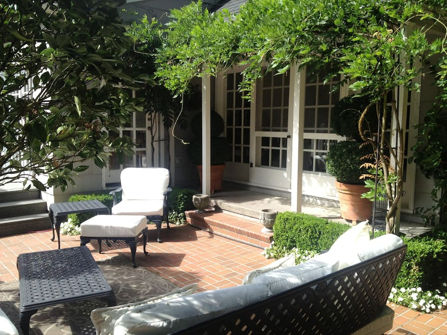 The patio is just of the livingroom and is great sitting area.