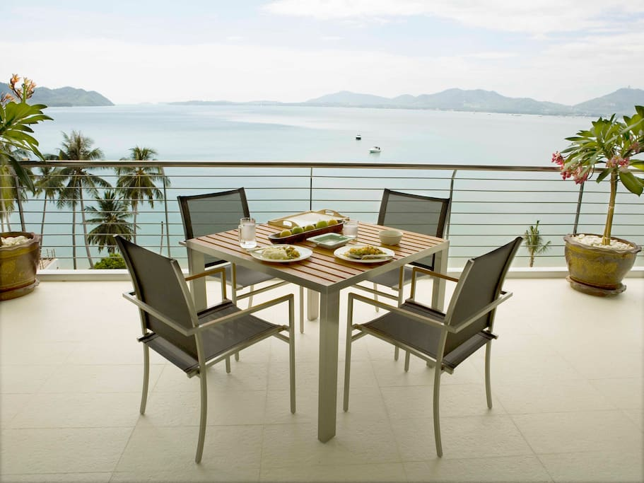 dining at your balcony, tasting the beauty of the sea